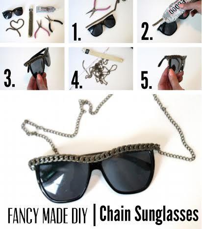 DIY | Chain Sunglasses