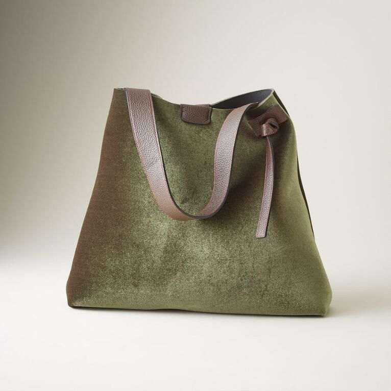 1b4fcb28faf UNFORGETTABLE VELVET TOTE: View 1 | Leather bags | Bags, Handmade ...