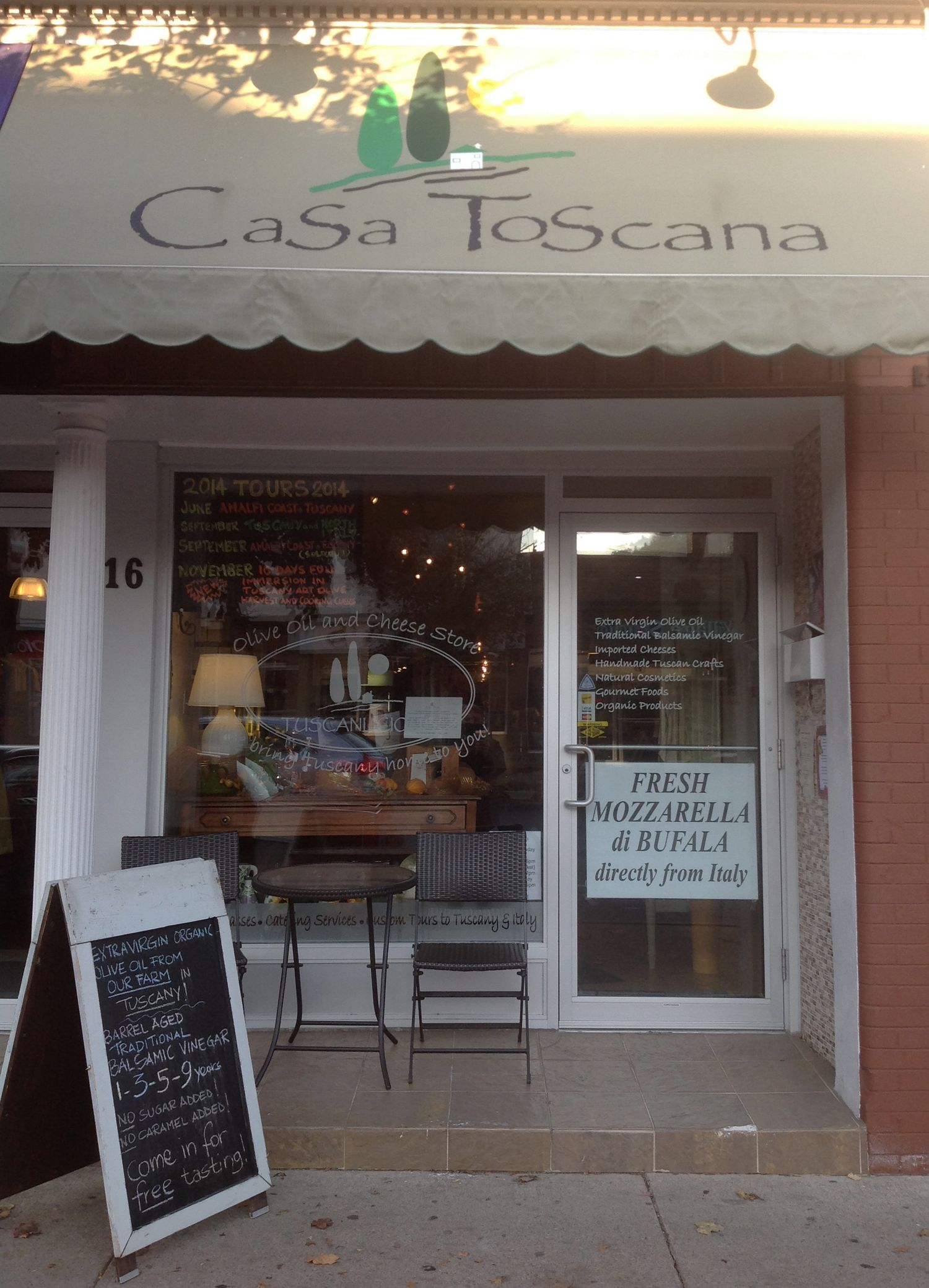 Casa Toscana is located at 16A Main Street West in Grimsby Owner Luca Vitali  Storefronts  Vehicles  Art quotes Art Store fronts