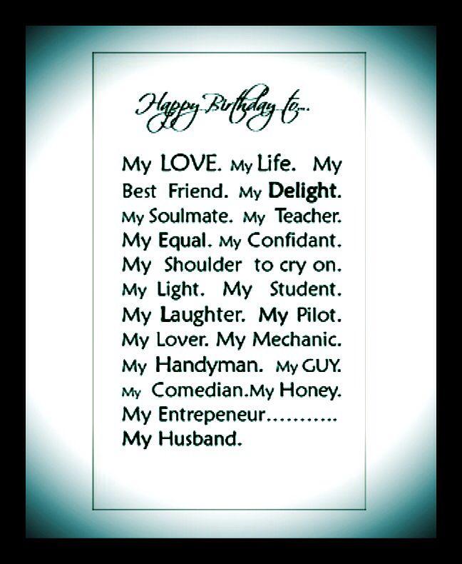 Happy Birthday To My Husband!