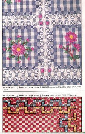 Bordado_em_tecido_xadrez - margareth mi3 - Picasa Web Albums -- chicken scratch embroidery