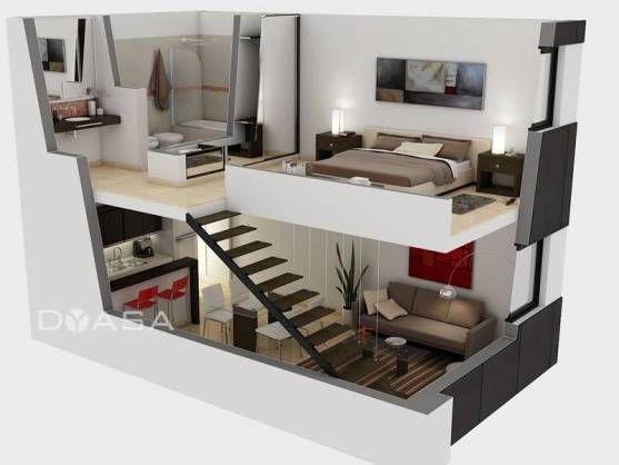 Resultado de imagen de altillos interiores de de casas de for Maquetas de apartamentos modernos