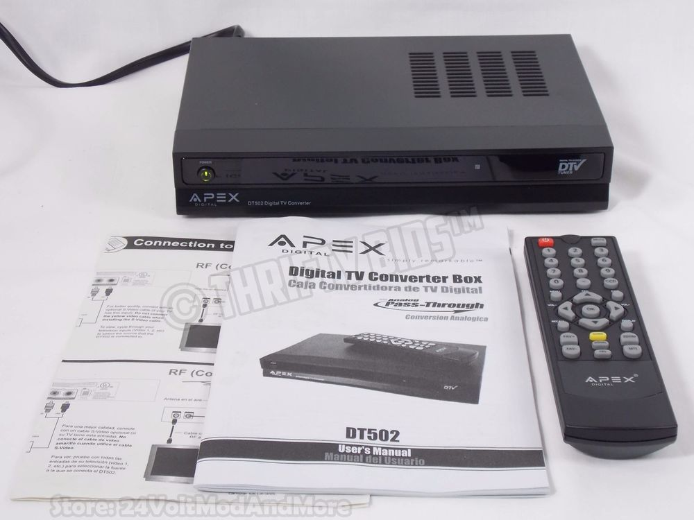 apex dt502 dtv digital tv converter box remote manual with analog rh pinterest com Apex Digital TV Cieling Mounts Apex Digital VHS