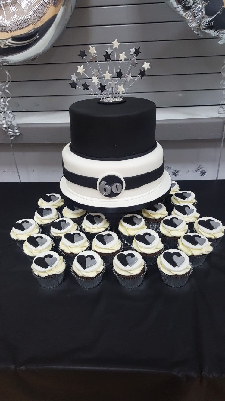 Black Silver And White Themed 60th Birthday Party With Matching