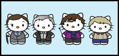 Hello Sherlock . A perfect blend of hello kitty and Sherlock. Must have.
