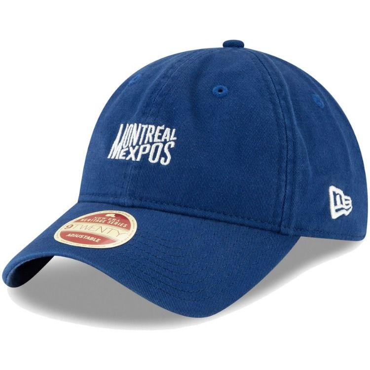 0fc855f0327 Men s Montreal Expos New Era Blue Cooperstown Collection Classic Front  9TWENTY Adjustable Hat