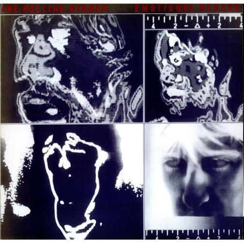 Rolling Stones Emotional Rescue + Poster UK vinyl LP album