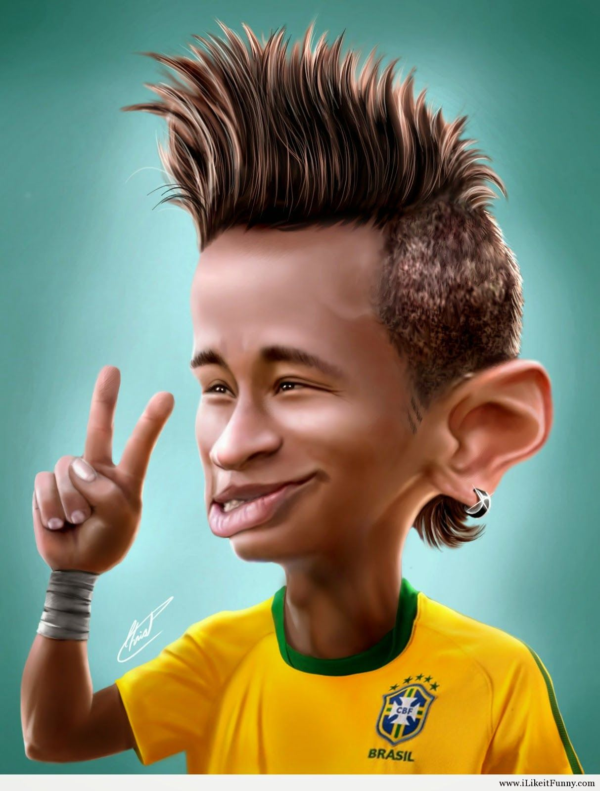 10 Gambar Wallpaper Cool Neymar Gambar Kartun Lucu Dan Wallpaper Goofy Face Funny Caricatures Celebrity Caricatures
