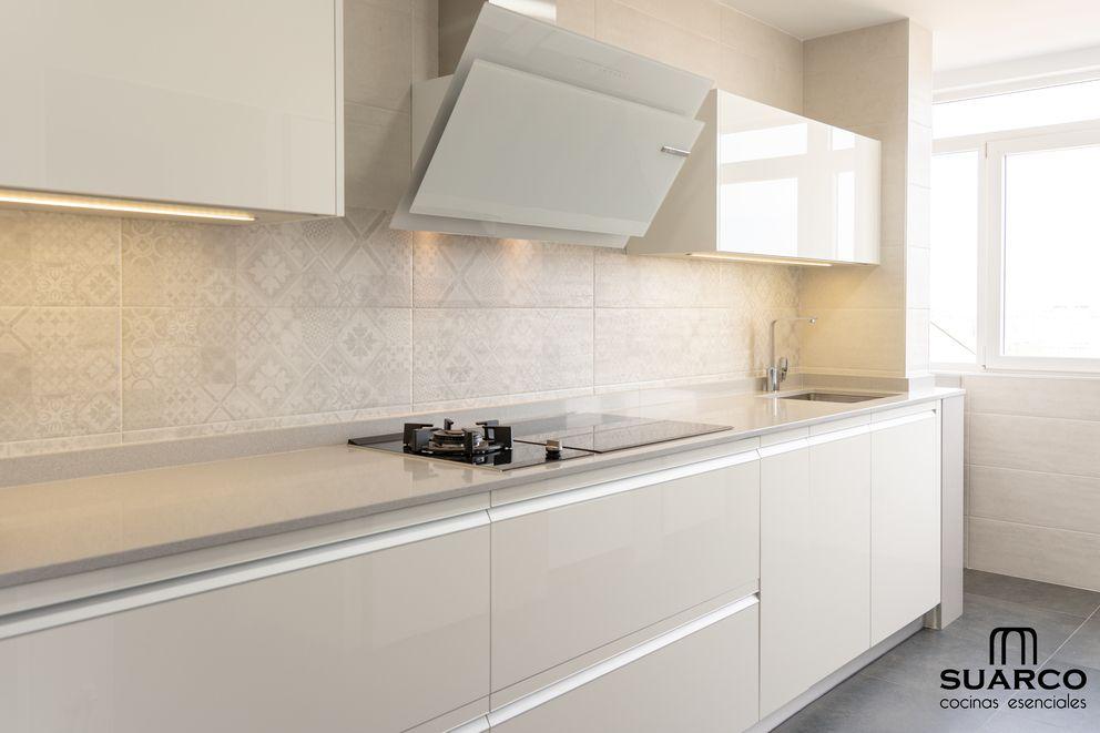 Cocina Moderna Blanca Cocina Azulejos Blancos Cocinas Blancas Modernas Vinilo Azulejos Cocina
