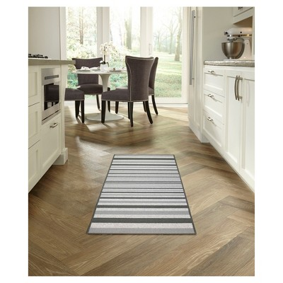 1 8 X2 10 Stripes Washable Doormat Gray Maples Striped Rug Maples Rugs Washable Rugs