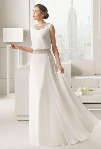 Vestidos de novia sencillos de la colección de Rosa Clará | Vestidos ...