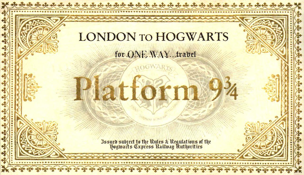 3 FOR 2 SALE Harry Potter Hogwarts Express train ticket Letter invitation Charm