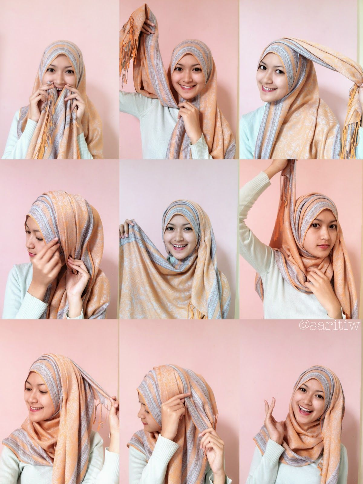 Tutorial Hijab Pashmina Turki Style Gambar Hijab Gaya Hijab