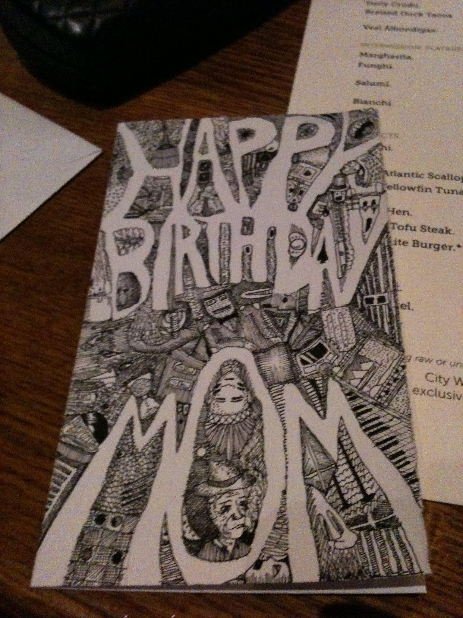 Handmade Birthday Card Designed By My Son