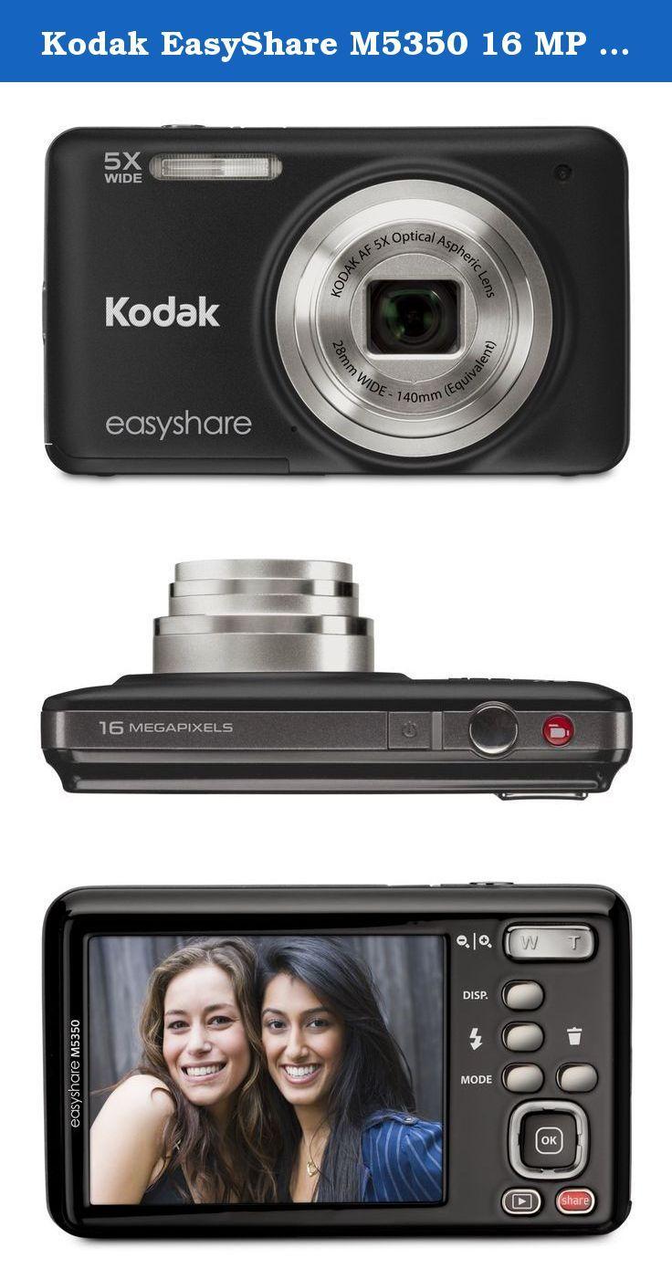 Kodak Easyshare M5350 16 Mp Digital Camera With 5x Optical Zoom And 2 7 Inch Lcd Black Kodak Easyshare Camera Digital Camera Kodak Easyshare Camera Photo