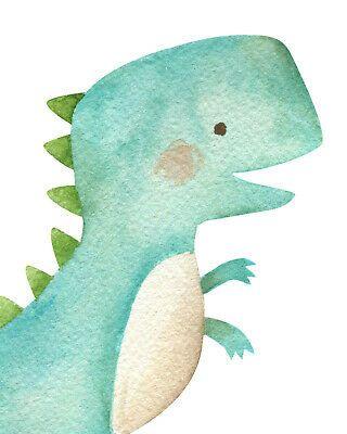 Dinosaur Watercolor Nursery Prints Set, Baby Kids Room Pictures Wall Art Decor | eBay