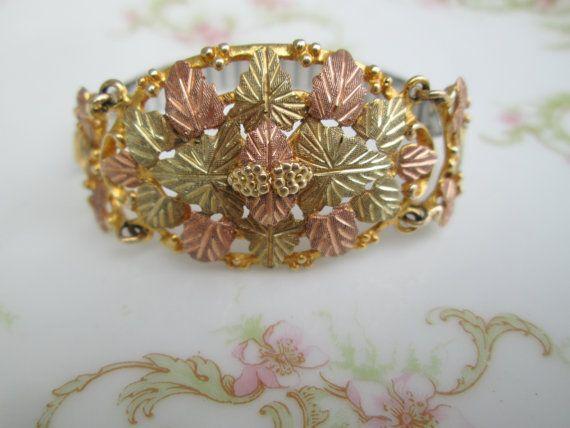 Vintage Black Hills Gold Stamper Signed By Holliezhobbiez On Etsy 595 00 Black Hills Gold Jewelry Black Hills Gold Wedding Rings Black Gold Jewelry