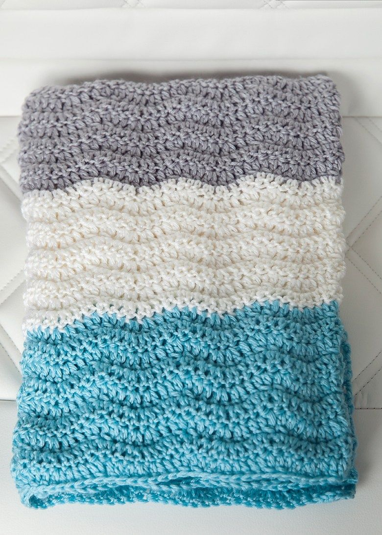 I love the look of chevron patterns for baby blankets, but I\'m not a ...