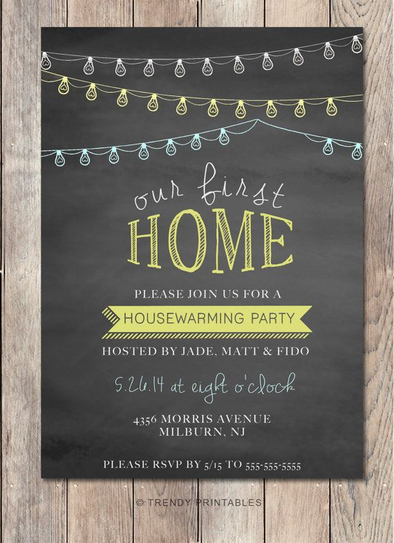 housewarming party invitation housewarming invitation printable invitation our first home. Black Bedroom Furniture Sets. Home Design Ideas