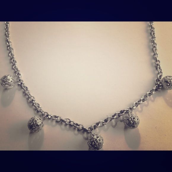 Silver necklace Light, elegant, silver balls. Charming Charlie Jewelry Necklaces