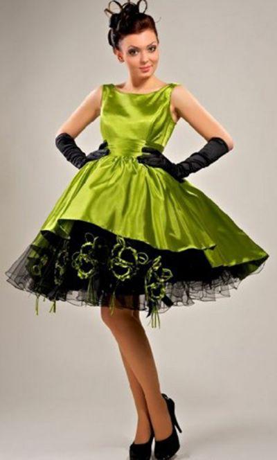 5575f229a247 Ретро платья (140 фото)  стиль, в горошек, с пышной юбкой, вечерние, с  воротником, детские, выпускные, красивые