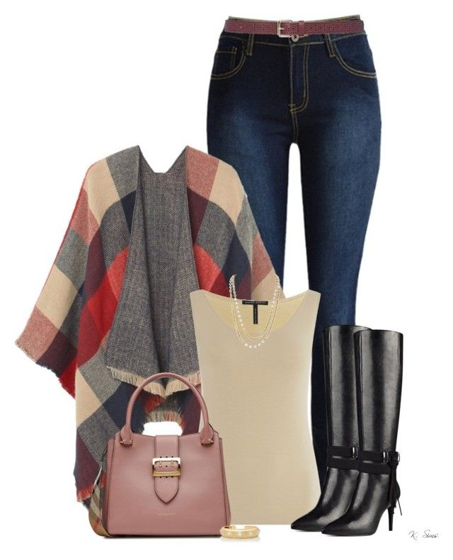 """""""Boots"""" by ksims-1 ❤ liked on Polyvore featuring MANGO, Sarah Pacini, Nine West, Burberry, Chanel, M&Co and Buccellati"""