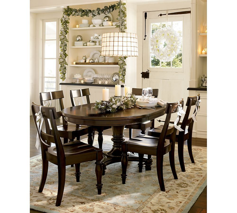 Pottery Barn Dining Room Tables Traditional Dining Room Ideas By