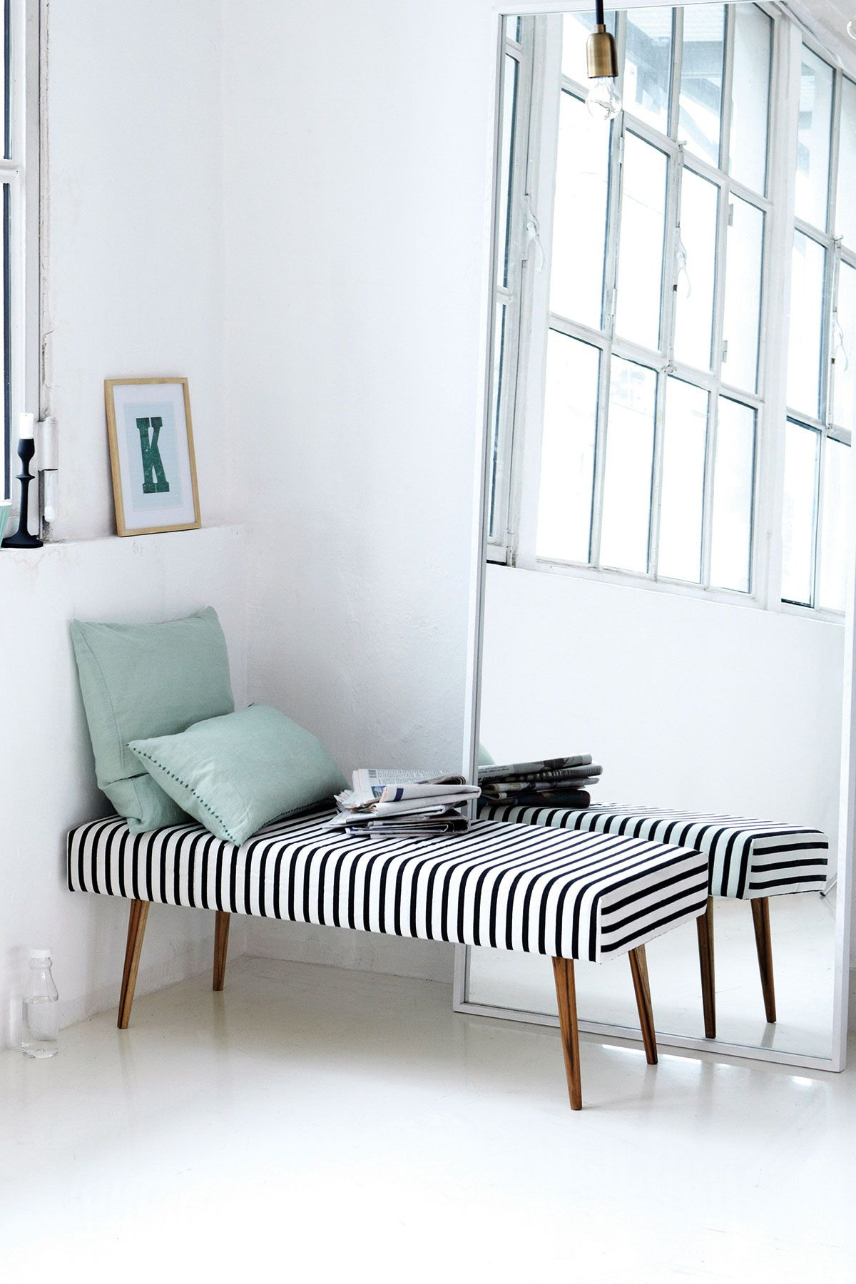 Bench Bench Black Stripe And House Doctor  Inner Decoration