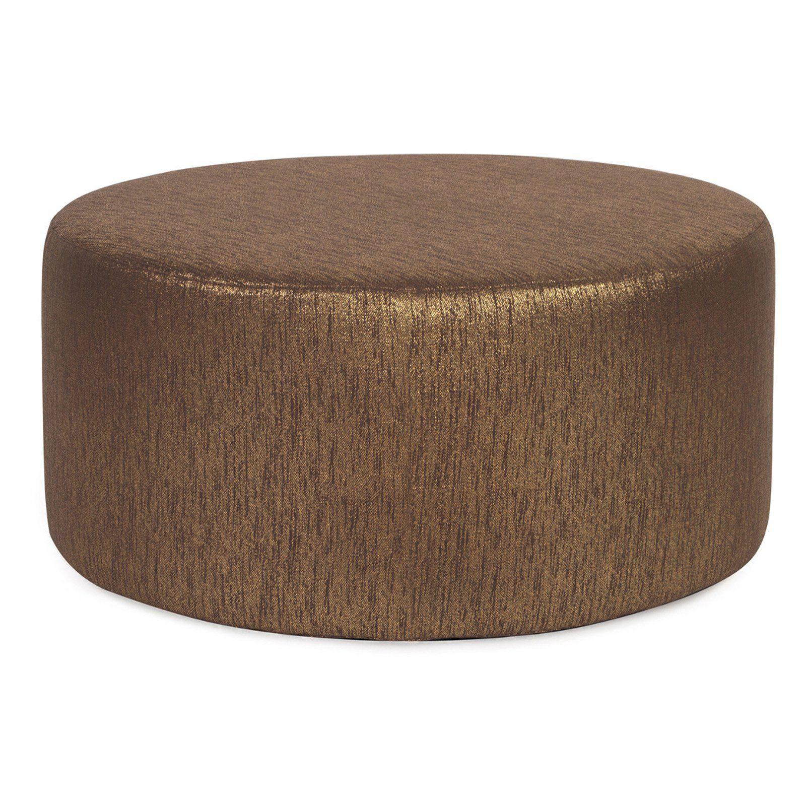 Elizabeth Austin Universal Glam Round Ottoman In 2020 Ottoman Slipcover Round Ottoman Upholstered Ottoman