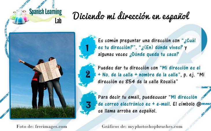 Cómo Decir Y Escribir La Dirección De Tu Casa En Español Teach Me Spanish Elementary Spanish Classroom Learning Spanish