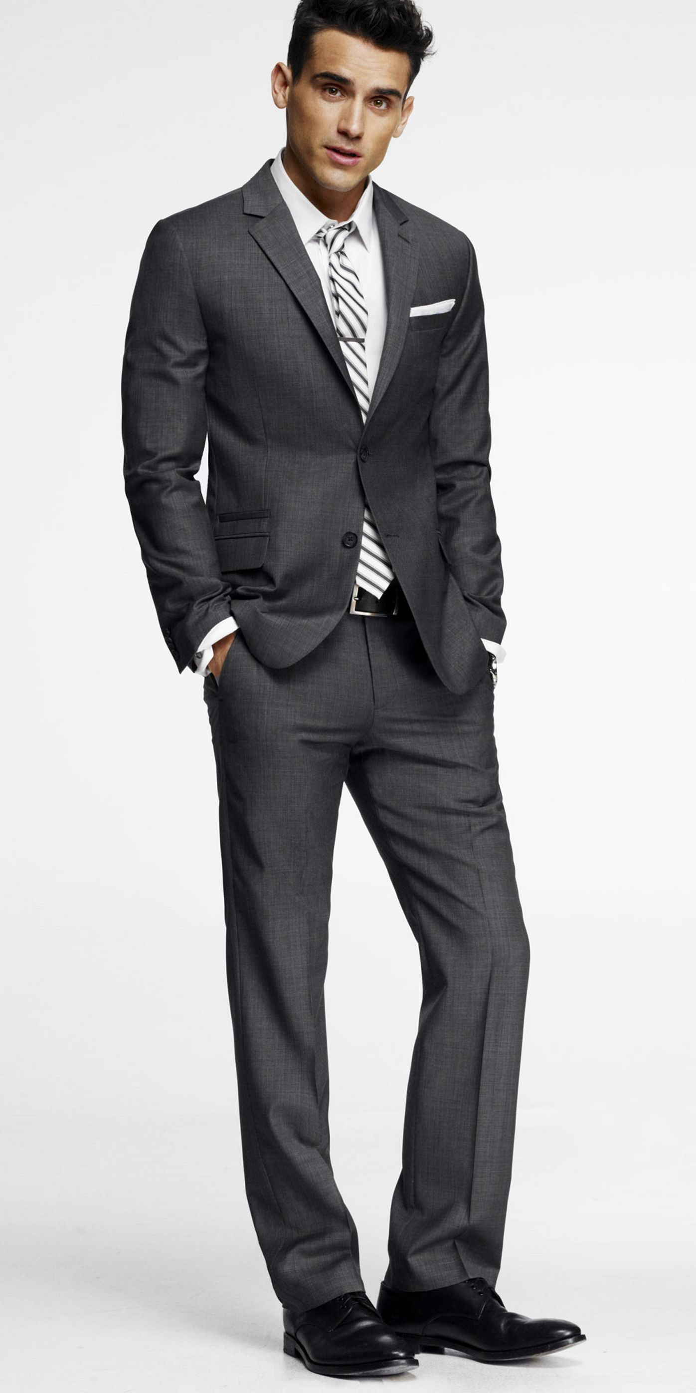 Bought it. Gray suit instead of a tux. Has a nice modern slim-fit ...