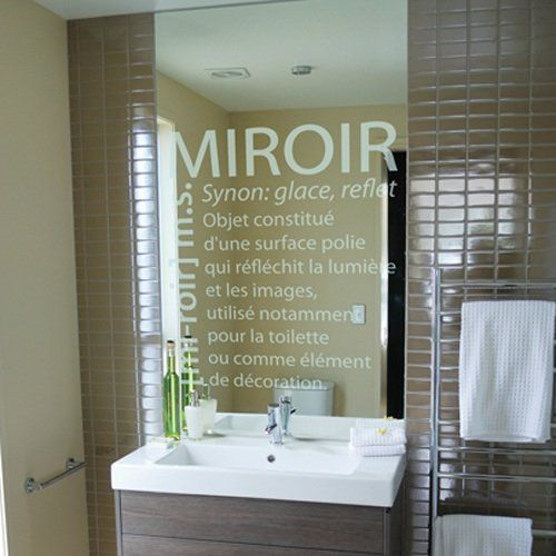 sticker salle de bain stickers miroir