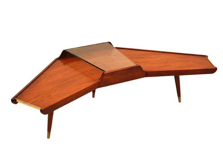 Wing Design 1950s Coffee Table Mid Century Furniture