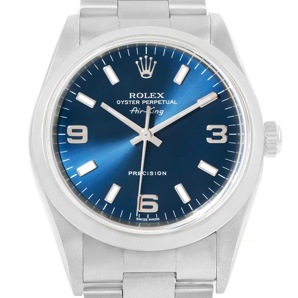19031 Rolex Air King 34 Blue Dial Oyster Bracelet Steel