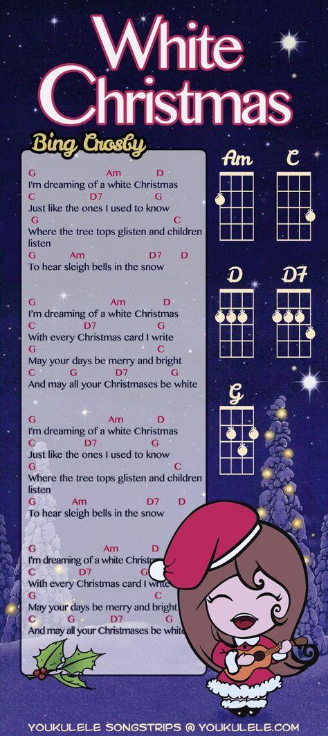White Christmas Bing Crosby Аккорды для укулеле, Песни