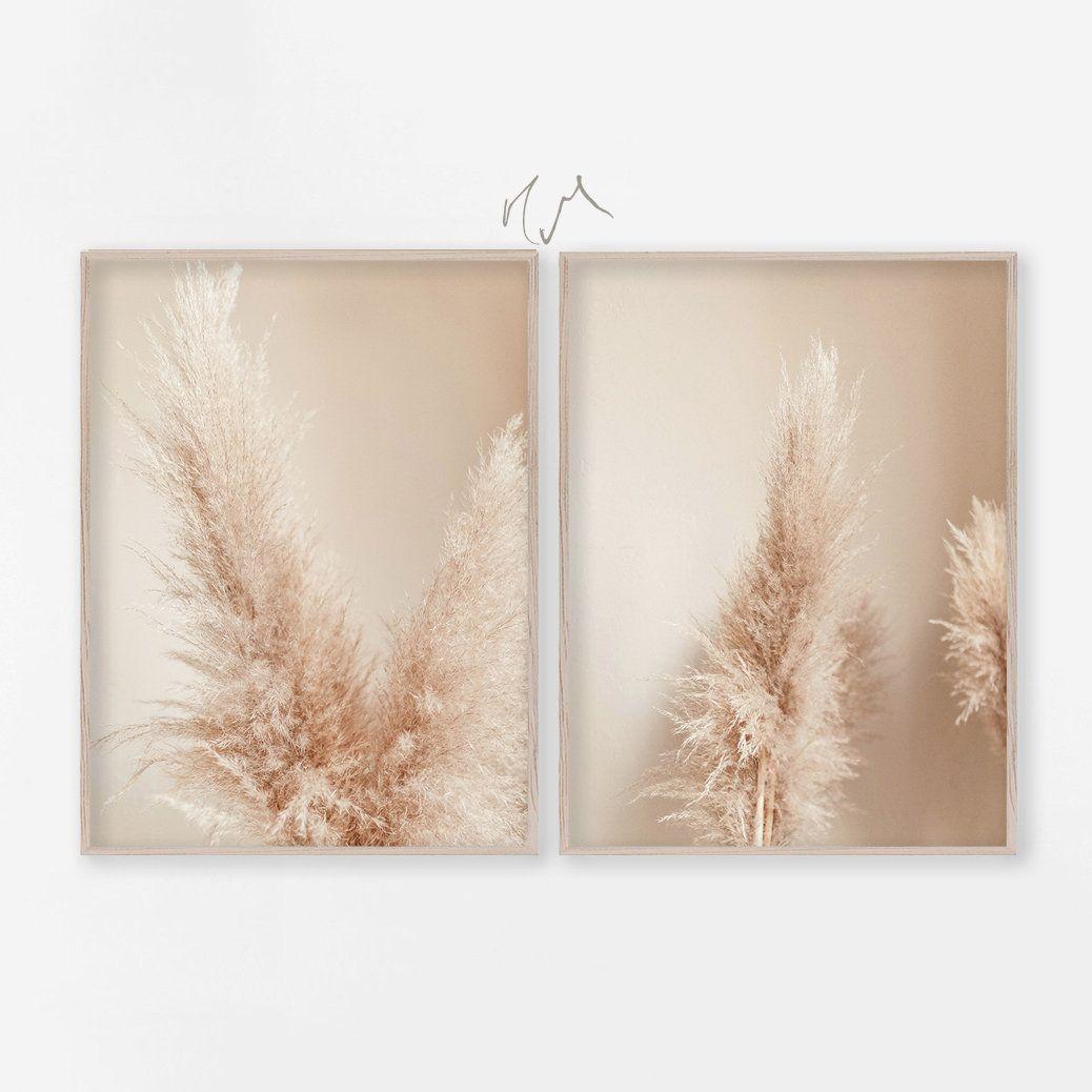 image regarding Grass Printable named Botanical Print Established of 2, Dry Pampas Gr Printable
