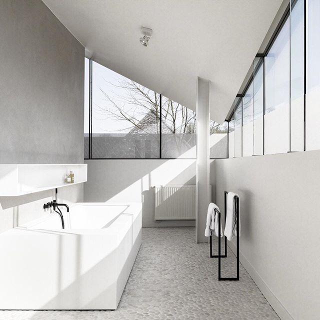 White Minimalistinterior Design: Project BK By @juma_architects. Photography By @annick