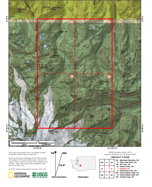 The United States Geological Survey creates topographical maps of ...