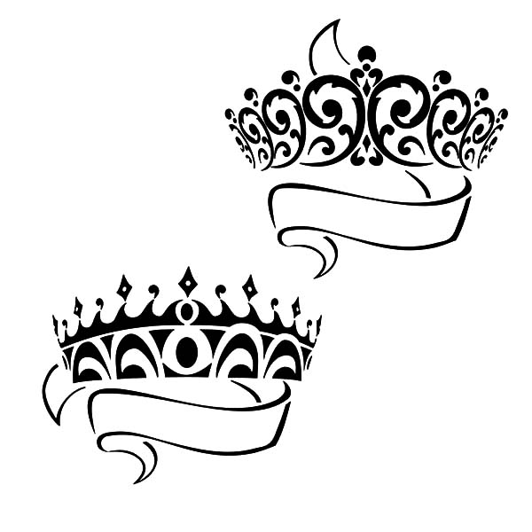 Prince And Princess Crown Coloring Pages Netart Princess Crown Clipart Black And White Coloring Pages