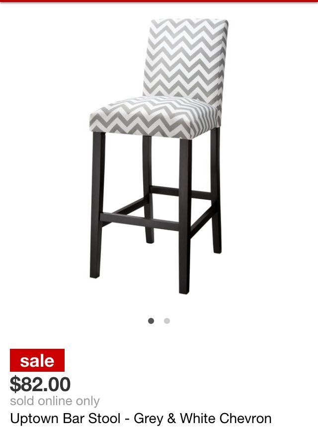Gray And White Chevron Bar Stool With Images Bar Stools Home