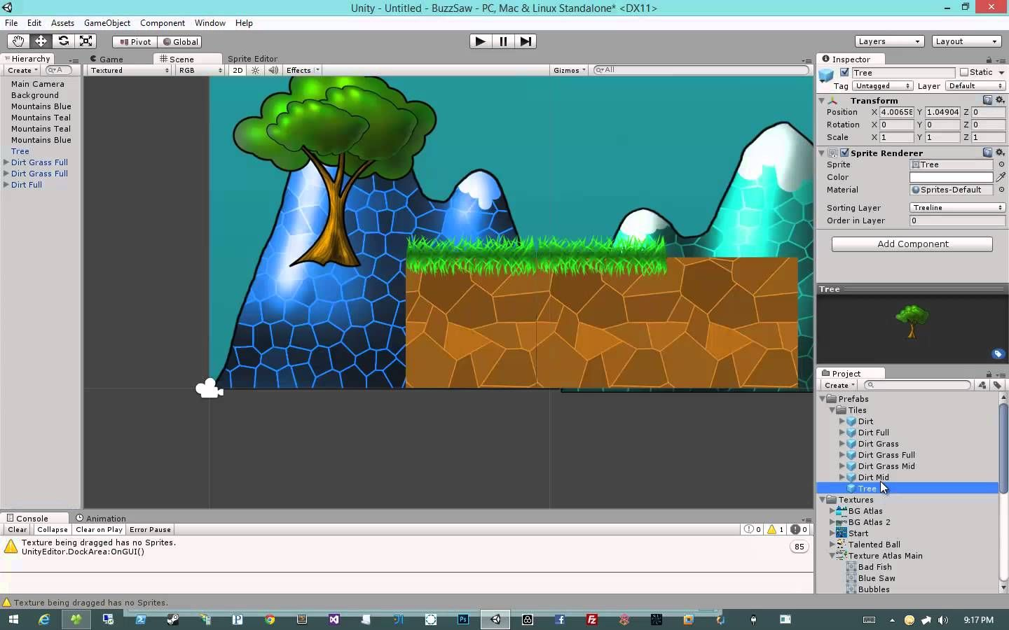 Creating 2d Games In Unity 4 5 3 Prefabs And Player