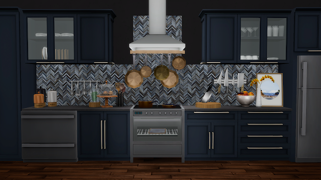 Simsational Designs Mina Kitchen Contemporary Shaker Style