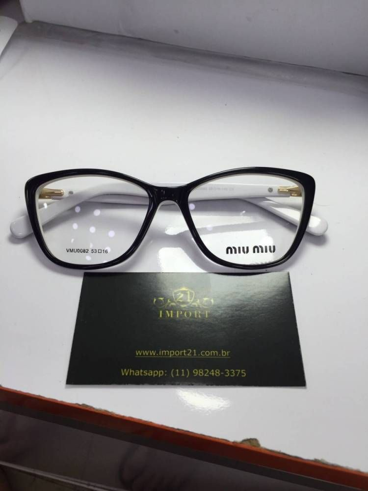 Armacao de Grau Miu Miu Inspired News IM8824 | Sun/glasses | Pinterest