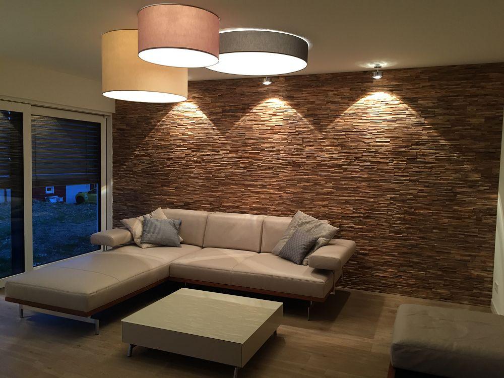 10 Unglaublich Fotos Von Wohnzimmer Holzwand Modern   Wandverkleidung, Holzwand wohnzimmer ...