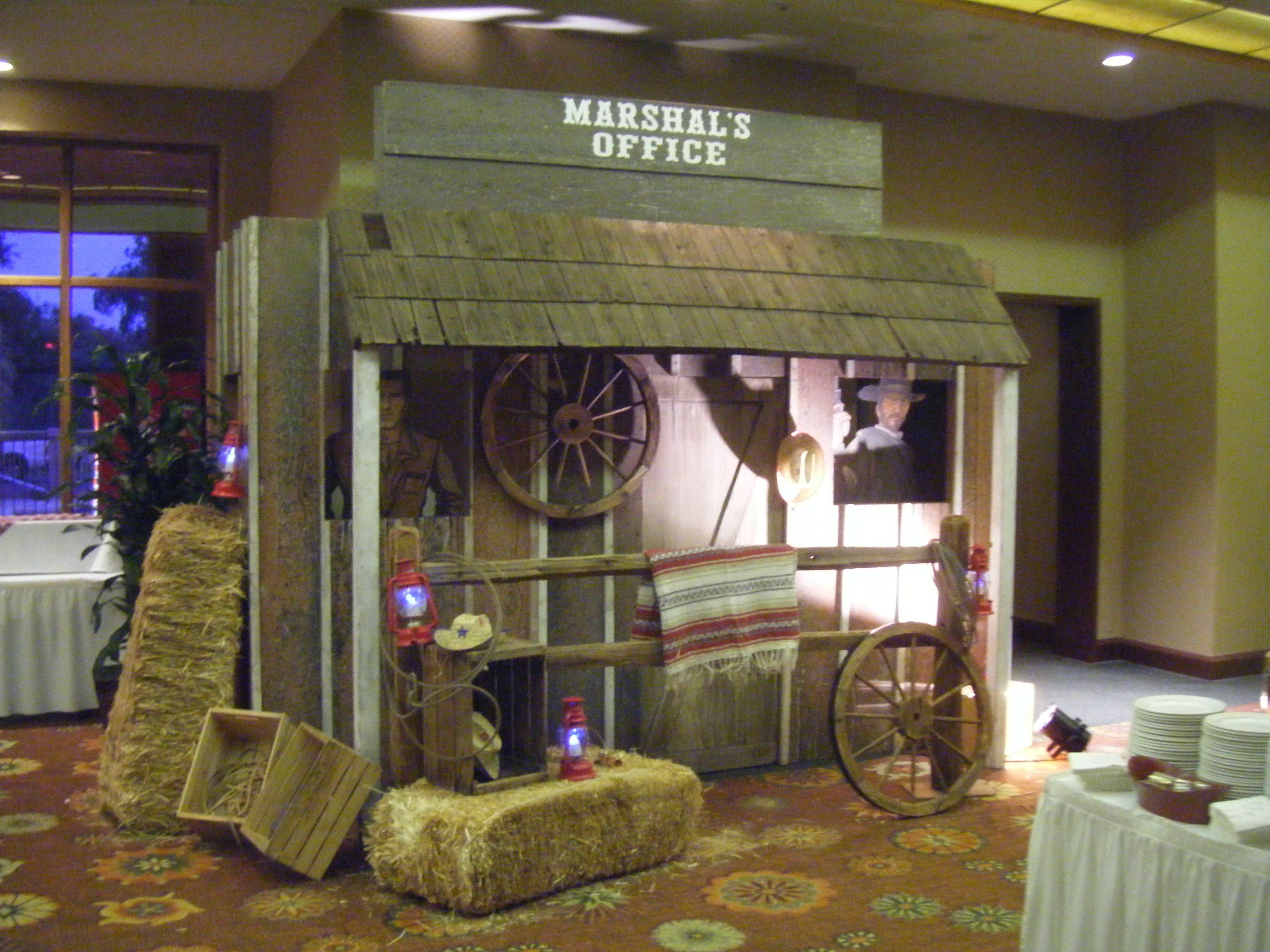 Enter Your Wild West Event Thru A Swinging Welcome Sign