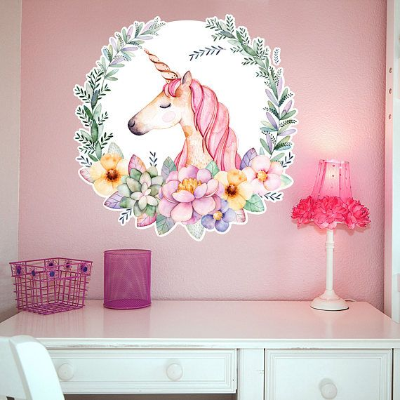 79a1b522e2cd This beautiful hand painted watercolor unicorn will be the perfect accent  for your little girls dream