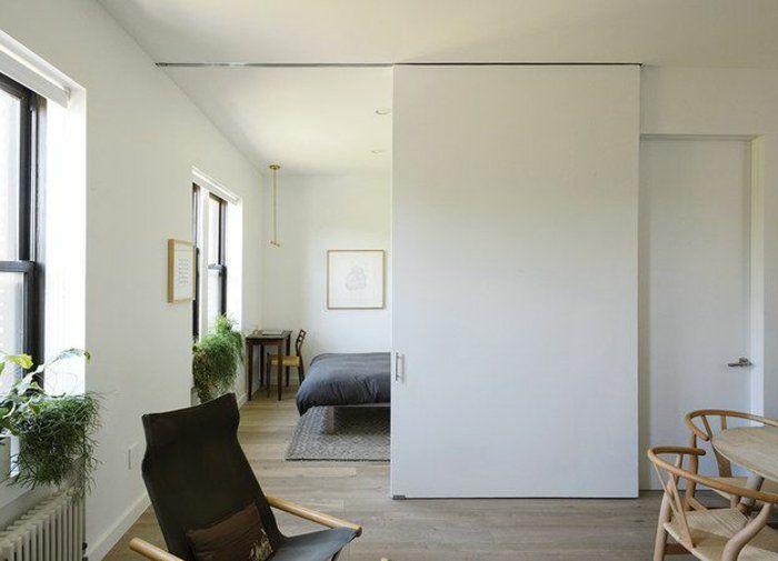 D couvrir la porte galandage en beaucoup de photos placards pinterest - Paroi coulissante chambre ...