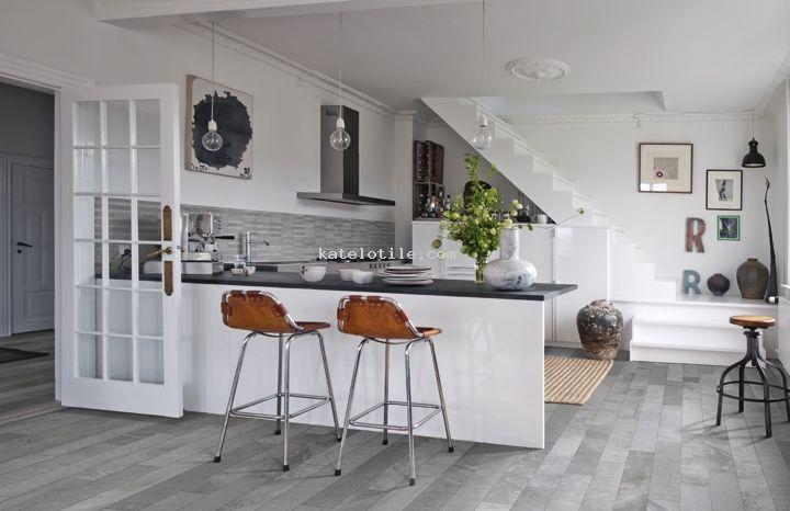 Burlington Grey Kitchen Zero With Grey Tiles Kitchen