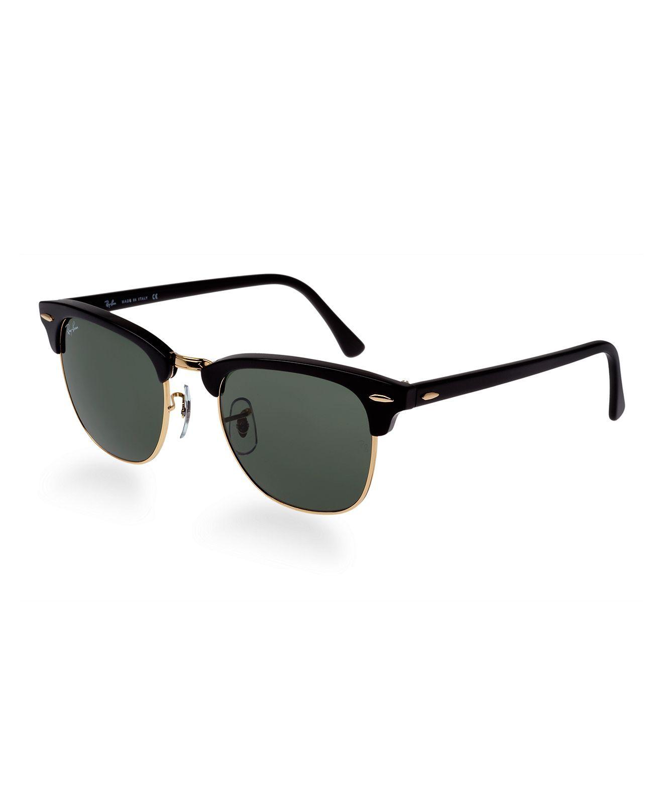fbb971b9c0 Ray-Ban Sunglasses, RB3016 49 Clubmaster - Sunglasses - Handbags &  Accessories - Macy's