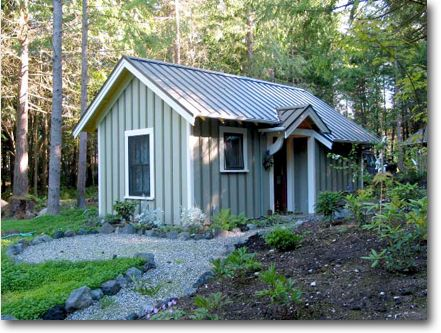 Backyard Cottage Designs gallery a shingled backyard cottage studio eccos design Ross Chapins Blue Sky Cabin This Is A Simple And Appealing Plan For A Retreat In